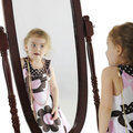 Preschooler in the Mirror Stock Photos