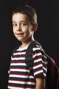 Preschooler studio shot of with black background Royalty Free Stock Photography