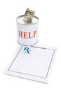 Prescription and Donation Box Royalty Free Stock Images