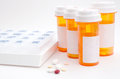 Prescription medications and boxes Royalty Free Stock Photos