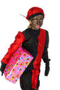 Present from Black Piet Royalty Free Stock Photo