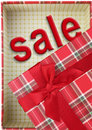 Present box with d text sale inside Royalty Free Stock Photography