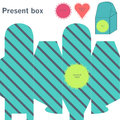 Present box with diagonal lines Stock Photo