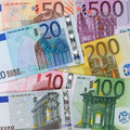 Present Euro banknotes Royalty Free Stock Images