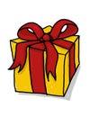 Present illustration; Gift box cartoon Royalty Free Stock Photo