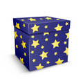 Present with stars texture Royalty Free Stock Image