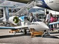 European hybrid electric Airbus E-Fan aircraft by Airbus Royalty Free Stock Photo