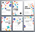 Presentation booklet covers - vector template pages set