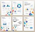 Presentation booklets - vector template a4 pages set
