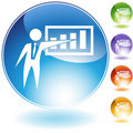 Presentation Businessman Crystal Icon Stock Image
