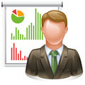 Presentation icon Royalty Free Stock Photography