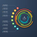Presentation infographic circle chart 8 options.