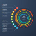 Presentation infographic circle chart 10 options.