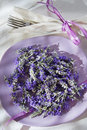 Presentation of lavender flower summer in spa area Royalty Free Stock Photography