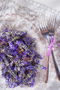 Presentation of lavender flower summer in spa area Royalty Free Stock Images