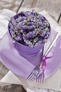 Presentation of lavender flower summer in spa area Stock Photos