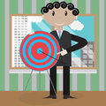Presentation new strategic success right in the bullseye Royalty Free Stock Photo