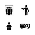 Presentation. Simple Related Vector Icons