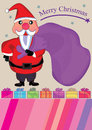 Presente Card_eps de Papai Noel Imagem de Stock Royalty Free