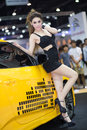 Presenter in sexy dress at the th thailand international motor expo on december in bangkok thailand Stock Image
