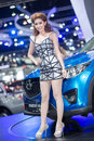 Presenter in sexy dress at the th thailand international motor expo on december in bangkok thailand Royalty Free Stock Photography