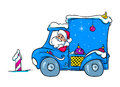 Presentes do carro de santa claus christmas Imagem de Stock Royalty Free