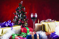 Presents around Christmas tree Royalty Free Stock Photography