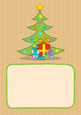 Presents and christmas tree illustration of Royalty Free Stock Images