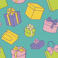 Presents pattern Stock Photography