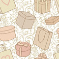 Presents and purchase pattern Royalty Free Stock Images