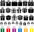 Presents vector set of present boxes Stock Image