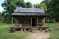 A preserved cabin from pioneer days Royalty Free Stock Photo