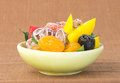 Title: Preserved fruits&Dried fruits. Food Snack on a Background
