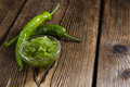 Preserved Green Chilis Royalty Free Stock Photo