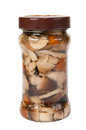 Preserved mushrooms Royalty Free Stock Photos