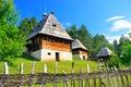 Preserved traditional balkans medieval village in sirogojno zlatibor serbia balkanic etno museum Stock Photo