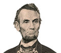 President Abraham Lincoln portrait (Clipping path) Royalty Free Stock Photo
