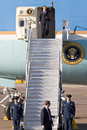 President barack obama in arizona phoenix az may disembarks from air force one at phoenix sky harbor airport on may phoenix az Stock Image