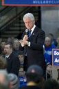 President bill clinton speaks at a rally Royalty Free Stock Photos