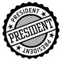 President Black And White Badge