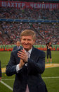 President of fc shakhtar donetsk rinat akhmetov match metallurg may donbass arena premier league Royalty Free Stock Images