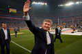 President of fc shakhtar donetsk rinat akhmetov match metallurg may donbass arena premier league Stock Photography