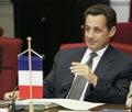 President of the French Republic Nicolas Sarkozy Royalty Free Stock Photo