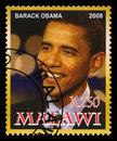President Obama Postage Stamp Royalty Free Stock Photo