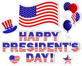 President's Day stickers. Stock Images
