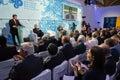 President of ukraine petro poroshenko at the th annual meeting kiev sep opening yalta european strategy yes Royalty Free Stock Photos