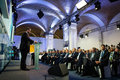 President of ukraine petro poroshenko at the th annual meeting kiev sep opening yalta european strategy yes Royalty Free Stock Photo
