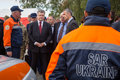 President of ukraine poroshenko and nato secretary general jens lviv sep petro stoltenberg during a visit to the teachings Royalty Free Stock Image