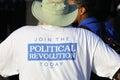 Presidential Candidate Bernie Sanders rallies supporters in Santa Monica, CA Royalty Free Stock Photo