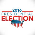 Presidential election header graphic with usa stars and stripes Royalty Free Stock Images